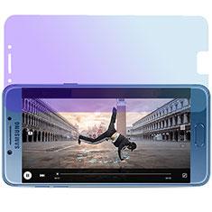 Samsung Galaxy C7 Pro C7010用アンチグレア ブルーライト 強化ガラス 液晶保護フィルム サムスン ネイビー