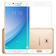 Samsung Galaxy C7 Pro C7010用強化ガラス フル液晶保護フィルム サムスン ホワイト
