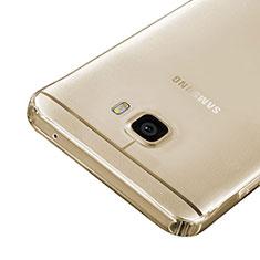 Samsung Galaxy C7 SM-C7000用極薄ソフトケース シリコンケース 耐衝撃 全面保護 クリア透明 サムスン ゴールド