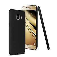 Samsung Galaxy C7 SM-C7000用ハードケース プラスチック 質感もマット サムスン ブラック