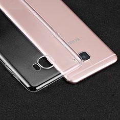 Samsung Galaxy C7 SM-C7000用極薄ソフトケース シリコンケース 耐衝撃 全面保護 クリア透明 R01 サムスン クリア