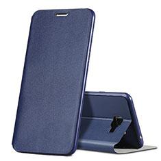 Samsung Galaxy C7 SM-C7000用手帳型 レザーケース スタンド サムスン ネイビー