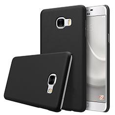 Samsung Galaxy C7 SM-C7000用ハードケース プラスチック 質感もマット M08 サムスン ブラック