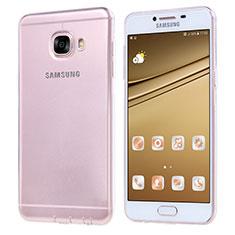 Samsung Galaxy C7 SM-C7000用極薄ソフトケース シリコンケース 耐衝撃 全面保護 クリア透明 T06 サムスン クリア