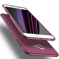 Samsung Galaxy C7 SM-C7000用極薄ソフトケース シリコンケース 耐衝撃 全面保護 S02 サムスン パープル