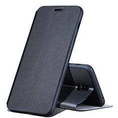 Samsung Galaxy C8 C710F用手帳型 レザーケース スタンド カバー サムスン ブラック