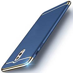 Samsung Galaxy C8 C710F用ケース 高級感 手触り良い メタル兼プラスチック バンパー M01 サムスン ネイビー