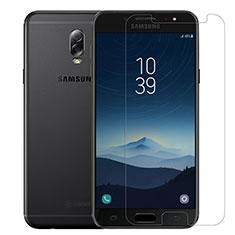 Samsung Galaxy C8 C710F用強化ガラス 液晶保護フィルム T02 サムスン クリア