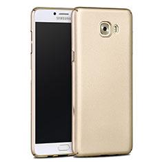 Samsung Galaxy C9 Pro C9000用ハードケース プラスチック 質感もマット サムスン ゴールド