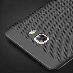 Samsung Galaxy C9 Pro C9000用ハードケース プラスチック メッシュ デザイン M01 サムスン ブラック