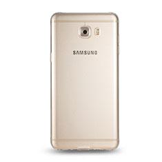 Samsung Galaxy C9 Pro C9000用極薄ソフトケース シリコンケース 耐衝撃 全面保護 クリア透明 T05 サムスン クリア