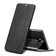 Samsung Galaxy C9 Pro C9000用手帳型 レザーケース スタンド カバー サムスン ブラック