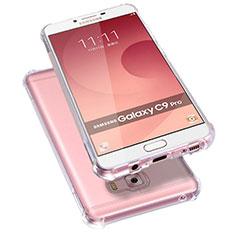 Samsung Galaxy C9 Pro C9000用極薄ソフトケース シリコンケース 耐衝撃 全面保護 クリア透明 T09 サムスン クリア