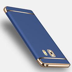 Samsung Galaxy C9 Pro C9000用ケース 高級感 手触り良い メタル兼プラスチック バンパー アンド指輪 サムスン ネイビー