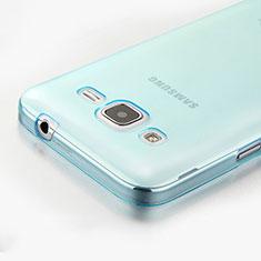 Samsung Galaxy Core Prime G360F G360GY用極薄ソフトケース シリコンケース 耐衝撃 全面保護 クリア透明 サムスン ネイビー