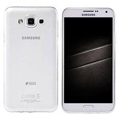 Samsung Galaxy E7 SM-E700 E7000用極薄ソフトケース シリコンケース 耐衝撃 全面保護 クリア透明 カバー サムスン クリア