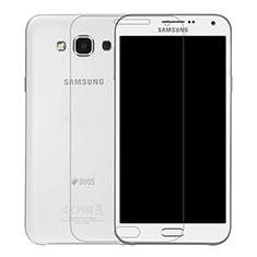 Samsung Galaxy E7 SM-E700 E7000用強化ガラス 液晶保護フィルム T01 サムスン クリア