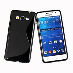 Samsung Galaxy Grand Prime 4G G531F Duos TV用ソフトケース S ライン サムスン ブラック