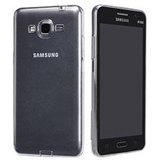 Samsung Galaxy Grand Prime 4G G531F Duos TV用極薄ソフトケース シリコンケース 耐衝撃 全面保護 クリア透明 T02 サムスン クリア