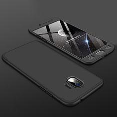Samsung Galaxy Grand Prime Pro (2018)用ハードケース プラスチック 質感もマット 前面と背面 360度 フルカバー サムスン ブラック