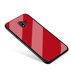 Samsung Galaxy Grand Prime Pro (2018)用ハイブリットバンパーケース プラスチック 鏡面 カバー サムスン レッド
