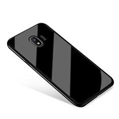Samsung Galaxy Grand Prime Pro (2018)用ハイブリットバンパーケース プラスチック 鏡面 カバー サムスン ブラック