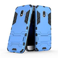 Samsung Galaxy Grand Prime Pro (2018)用ハイブリットバンパーケース スタンド プラスチック 兼シリコーン サムスン ネイビー