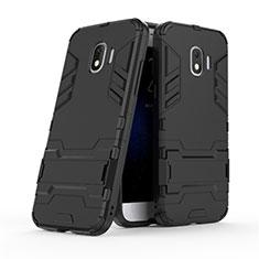 Samsung Galaxy Grand Prime Pro (2018)用ハイブリットバンパーケース スタンド プラスチック 兼シリコーン サムスン ブラック