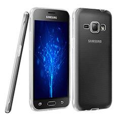 Samsung Galaxy J1 (2016) J120F用極薄ソフトケース シリコンケース 耐衝撃 全面保護 クリア透明 サムスン クリア