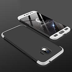 Samsung Galaxy J2 Pro (2018) J250F用ハードケース プラスチック 質感もマット 前面と背面 360度 フルカバー サムスン シルバー