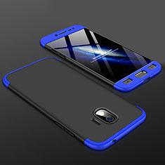Samsung Galaxy J2 Pro (2018) J250F用ハードケース プラスチック 質感もマット 前面と背面 360度 フルカバー サムスン ネイビー・ブラック