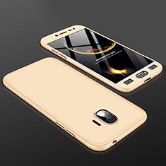 Samsung Galaxy J2 Pro (2018) J250F用ハードケース プラスチック 質感もマット 前面と背面 360度 フルカバー サムスン ゴールド