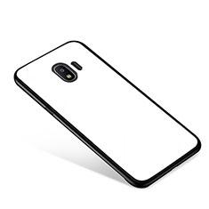Samsung Galaxy J2 Pro (2018) J250F用ハイブリットバンパーケース プラスチック 鏡面 カバー サムスン ホワイト