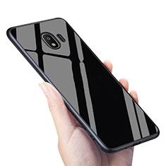 Samsung Galaxy J2 Pro (2018) J250F用シリコンケース ソフトタッチラバー 鏡面 サムスン ブラック