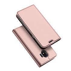 Samsung Galaxy J2 Pro (2018) J250F用手帳型 レザーケース スタンド L01 サムスン ローズゴールド