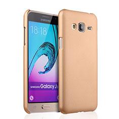 Samsung Galaxy J3 (2016) J320F J3109用ハードケース プラスチック 質感もマット サムスン ゴールド