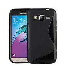 Samsung Galaxy J3 (2016) J320F J3109用ソフトケース S ライン サムスン ブラック