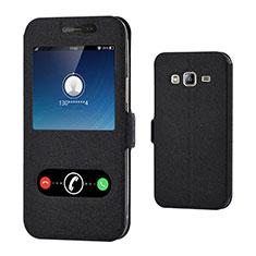 Samsung Galaxy J3 (2016) J320F J3109用手帳型 レザーケース スタンド サムスン ブラック