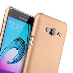 Samsung Galaxy J3用ハードケース プラスチック 質感もマット サムスン ゴールド