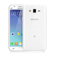 Samsung Galaxy J3用極薄ソフトケース シリコンケース 耐衝撃 全面保護 クリア透明 サムスン クリア