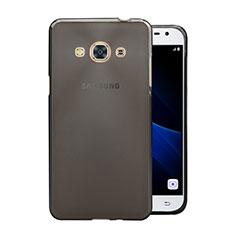 Samsung Galaxy J3 Pro (2016) J3110用極薄ソフトケース シリコンケース 耐衝撃 全面保護 クリア透明 サムスン グレー