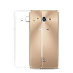 Samsung Galaxy J3 Pro (2016) J3110用極薄ソフトケース シリコンケース 耐衝撃 全面保護 クリア透明 T02 サムスン クリア