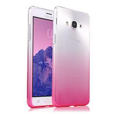 Samsung Galaxy J3 Pro (2016) J3110用極薄ソフトケース グラデーション 勾配色 クリア透明 サムスン ピンク