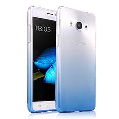 Samsung Galaxy J3 Pro (2016) J3110用極薄ソフトケース グラデーション 勾配色 クリア透明 サムスン ネイビー