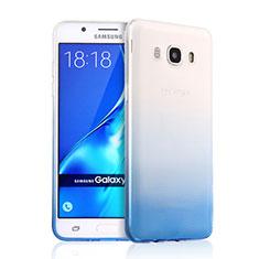 Samsung Galaxy J5 (2016) J510FN J5108用極薄ソフトケース グラデーション 勾配色 クリア透明 サムスン ネイビー
