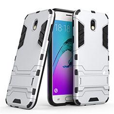 Samsung Galaxy J5 (2017) Duos J530F用ハイブリットバンパーケース スタンド プラスチック 兼シリコーン サムスン ホワイト