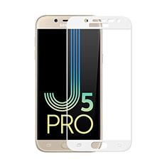 Samsung Galaxy J5 (2017) Duos J530F用強化ガラス フル液晶保護フィルム サムスン ホワイト