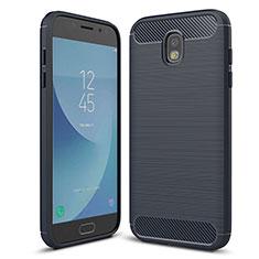 Samsung Galaxy J5 (2017) SM-J750F用シリコンケース ソフトタッチラバー ツイル カバー サムスン ネイビー