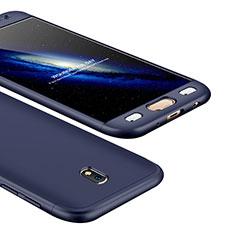 Samsung Galaxy J5 (2017) SM-J750F用ハードケース プラスチック 質感もマット 前面と背面 360度 フルカバー サムスン ネイビー