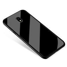 Samsung Galaxy J5 (2017) SM-J750F用ハイブリットバンパーケース プラスチック 鏡面 カバー サムスン ブラック